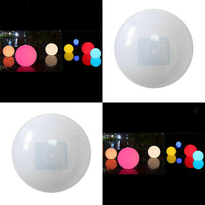 4x LED Lighting Solar Floating Water Swimming Pool Ball Lamps RGB&White