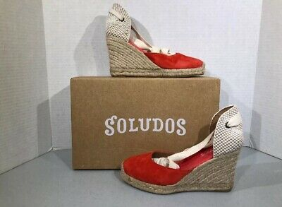 d0d878219eb SOLUDOS TALL LEATHER Wedge Sandal - $42.87 | PicClick