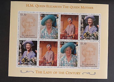 St Vincent Grenadines 1995 Queen Mother 95th Birthday Sheetlet MNH UM unmounted