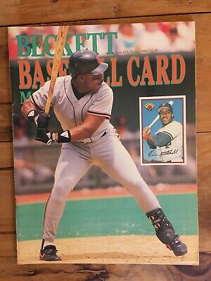 BECKETT BASEBALL CARD MONTHLY August 1989 #53 Kevin Mitchell NO LABEL