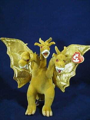 803f4f62630 MINT Ty Classic 2001 KING GHIDORAH GODZILLA Japan Exclusive MONSTER Plush  W  TAG