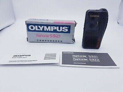 Olympus Pearlcorder S921 Handheld Microcassette Voice Recorder *Boxed* Working