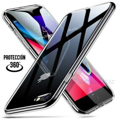 FUNDA 360º DOBLE TRANSPARENTE iPHONE 6 - 6S - 7 - 8 - SE 2020 - PLUS - X XS XR