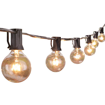 100Ft G40 Globe String Lights with Clear Bulbs-UL Listed for Indoor/Outdoor Use