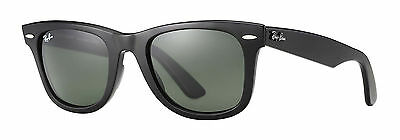 4103b5e1c Ray-Ban RB2140 Original Wayfarer Classic 50mm Black Green Mirror Blue  Sunglasses