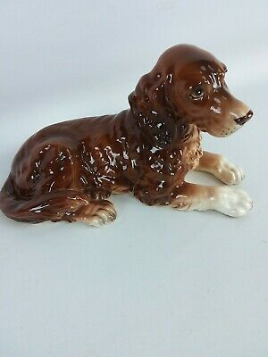 Dog Figurine English Stafford Spaniel Vintage Large 1950'S