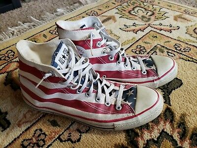 e9f3cc9fbe8c6 VTG CONVERSE ALL Star Chuck Taylor Made In Usa Flag Stars And Bars Mens Us  10.5