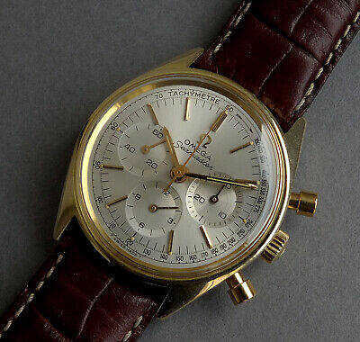 OMEGA SEAMASTER 18K GOLD PLATED CHRONOGRAPH Gents Watch 1968 - SERVICED