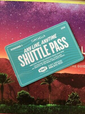 ONE (1) COACHELLA 2019 Weekend 1 CAR CAMPING PASS ONLY