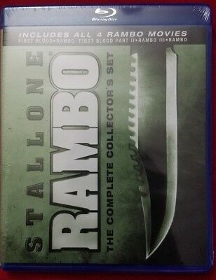Rambo: The Complete Collectors Set (Blu-ray Disc, 2010, 4-Disc Set)