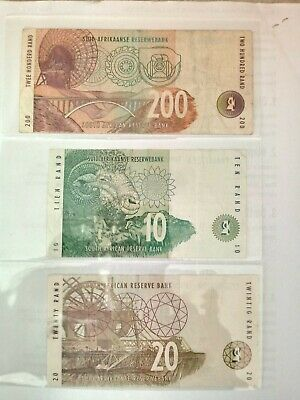 Various Circulated South Africa Bank Notes Depicting Portrait Of Wild Animals