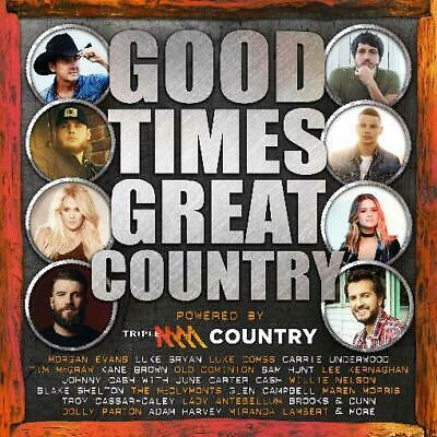 GOOD TIMES GREAT COUNTRY - Various Artists 2CD *NEW* 2019 Triple MMM