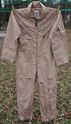 9ddf72568b6 USAF Military Genuine Issue CWU-27 P Nomex Flyers Coverall Flight Suit Tan  42R