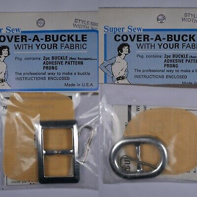 Crushed Buckle Belt Kit Self Cover Your Own Match Dress 3in by Max 40in VTG DIY