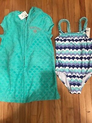 e17f6ce5bfd73 GYMBOREE & JUSTICE Size 6 -7 YEARS SWIM SUIT BATHING COVERUP COVER UP  OUTFIT NWT