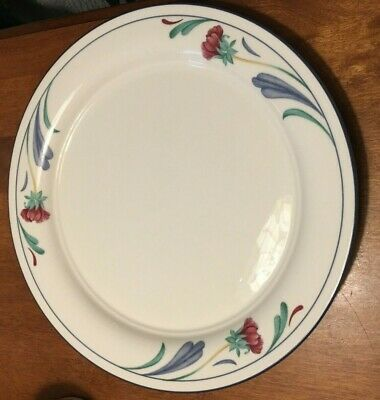 Lenox Chinastone Poppies on Blue DINNER PLATE 10.75""