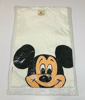 93476754 Vintage 70s Walt Disney World Mickey Mouse T Shirt New In Package Large VTG