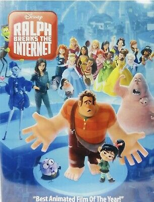 Ralph Breaks The Internet (DVD, 2018) FREE FAST SHIPPING 🚀