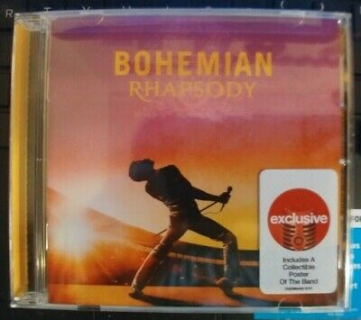 Queen Bohemian Rhapsody Soundtrack CD TARGET EDITION WITH POSTER NM