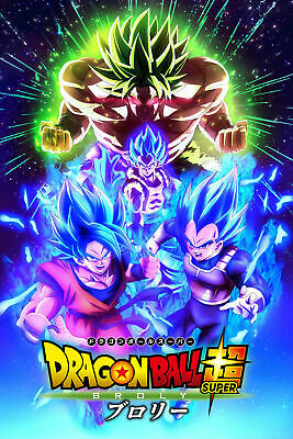Dragon Ball Super: The Broly Movie Poster + Goku Vegeta SSJ Blue - 13x19 - #2
