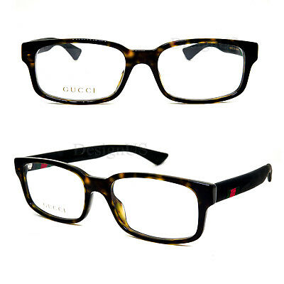 a90e076cfd15 GUCCI GG 0012O 002 Tortoise 54/18/145 Eyeglasses Rx Made in Italy ...