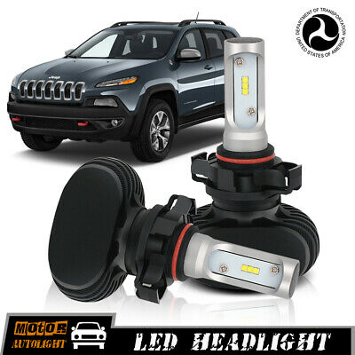 5202 H16 LED Fog Lamps For Jeep Cherokee 2015 Conversion Kit Driving Lights Bulb