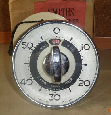 Vintage Retro SMITHS 5 Hour Timer In Working Order