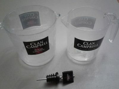 Lot Clan Campbell - Pot A Glacon + Carafe + Doseur - Collector - A2