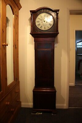 Antique 8 Day Grandfather Longcase Clock By Joseph Brady Of Dublin