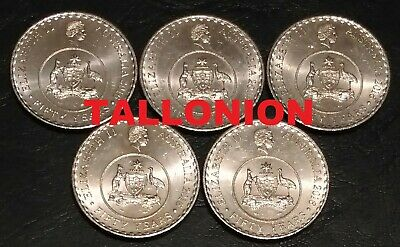 5x 2016 Australian 50 Years Anniversary Decimal Currency 20 Cent Coin Circulated
