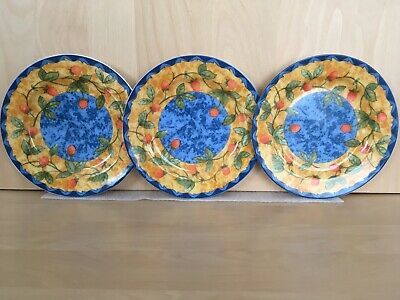 Lot of 3 COVENTRY STRAWBERRY Salad Plate PTS International Fine Porcelain