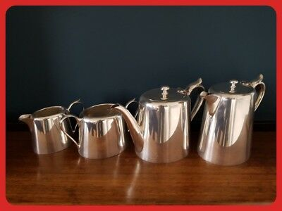 JR&S Silver Plated Tea Coffee Pot Set John Round & Son Ltd Creamer Sugar Bowl