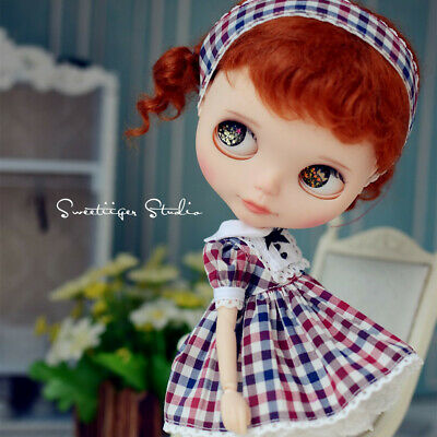 """【Tii】kitten dress outfit 12/"""" 1//6 doll Blythe//Pullip//azone Clothes Handmade girl"""