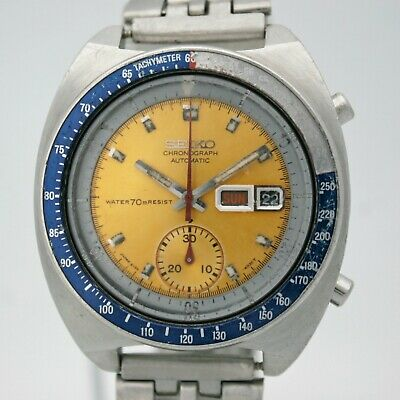 cc3a71d388 1971 Vintage Seiko 6139 - 6002 Automatic Chronograph stainless Gents  wristwatch.