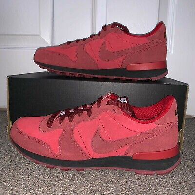 outlet store 1b16c 8ebe5 NIKE INTERNATIONALIST iD - RED   BLACK   GOLD UK 6