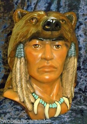 """Handpainted """"Grizzly Spirit"""" Native American Indian"""