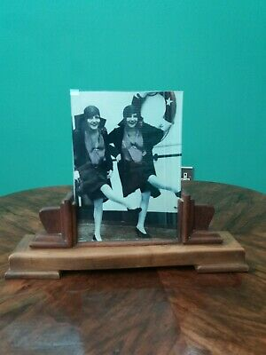 Art deco 1930s oak stepped photo /picture frame