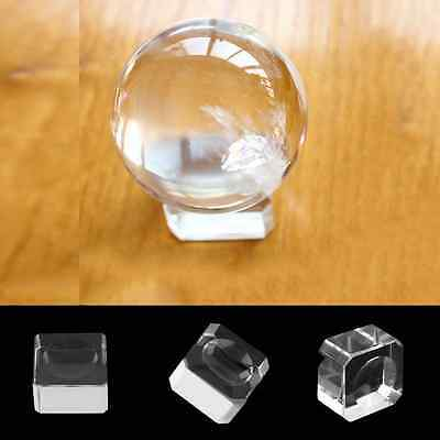 Base Soporte De Cristal Para Esferas Bolas Cuarzo Glass Stand For Quartz Sphere