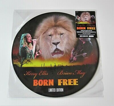 "BRIAN MAY : Born Free Numbered 12"" Picture Disc Single 2012 Vinyl RSD Queen"