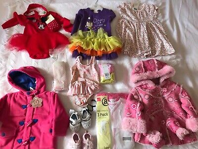 Mostly NEW ! Baby Girl Clothes Bundle 6-9 /9-12 Months
