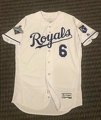 8900e4caf27 Lorenzo Cain Kansas City Royals Game Used Worn Jersey Brewers MLB Auth WS  Patch