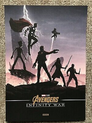 Marvel Avengers Infinity War A4 Poster Odeon RARE booking only! Thor