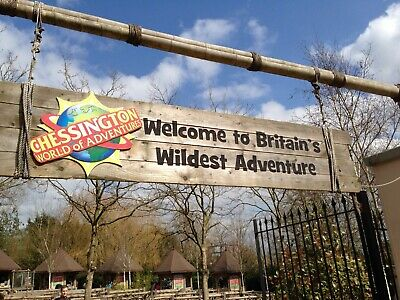 4 x CHESSINGTON WORLD OF ADVENTURES TICKETS FOR WED 14 AUGUST 2019 - FREE POST