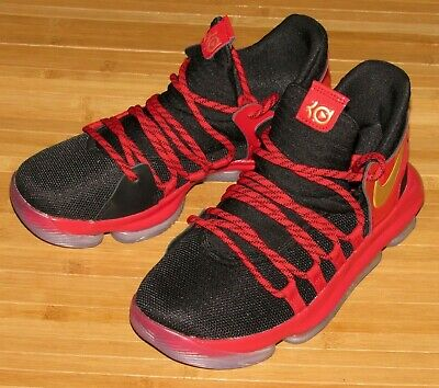 317a1ee0e149 NEW Nike Zoom KD X LE 10 Size 5.5Y Black University Red Metallic Gold AJ7220