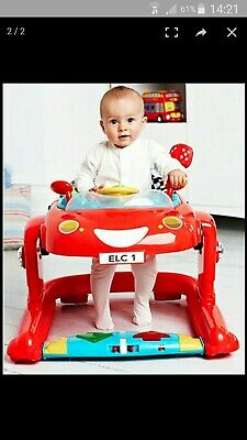 e1bdacf7d MOTHERCARE BABY WALKER Bouncer 3 In 1 Car Pink - £18.00