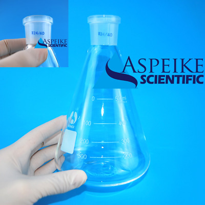 500ml,Lab Glassware Erlenmeyer Flask,Groud Joints 24/40,Lab Triangle flask L