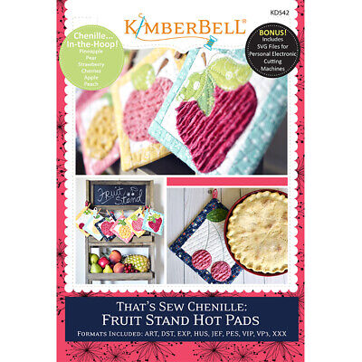 That's Sew Chenille; Fruit Stand Hot Pads (Machine Embroidery Cd)