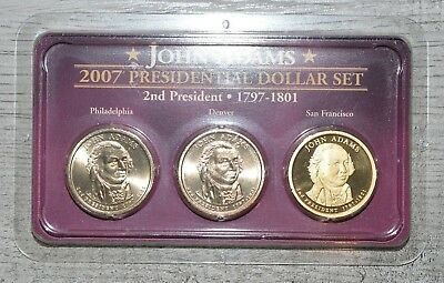 Uncirculated Clad Finish Your Book#1353 2007 P Presidential Dollar John Adams