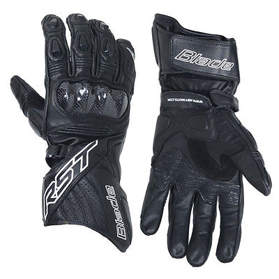 RST Blade II CE Black Motorrad Motorcycle Ladies Sports Leather Gloves All Sizes