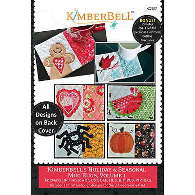 Kimberbell, Machine Embroidery Cd: Kimberbell's Holiday & Seasonal Mug Rugs, Vol
